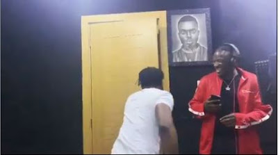 Slimcase Pranks Peruzzi For Snatching His Babe, See His Reaction (VIDEO)
