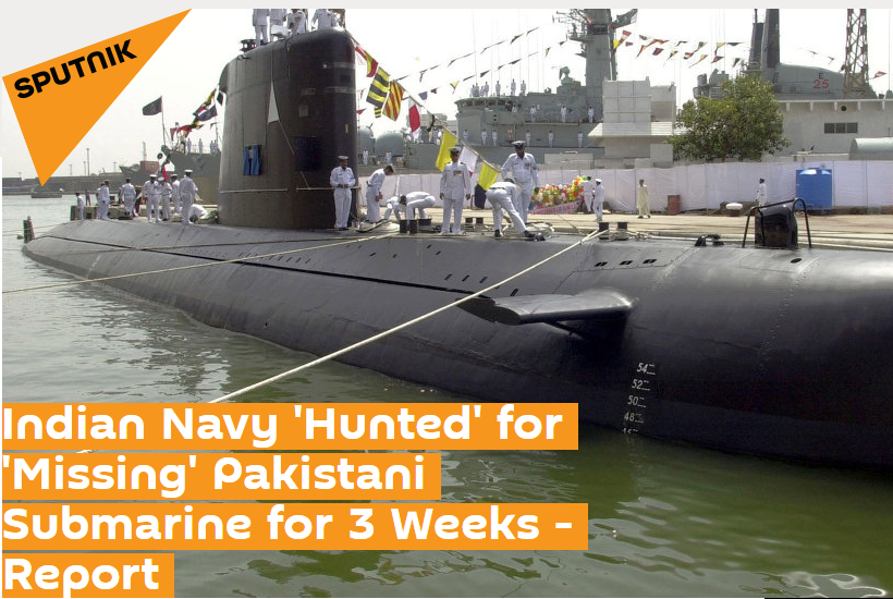Indian Air Force and Navy Foolish by Pakistan For Searching Missing Pakistani Submarine for 3 Weeks