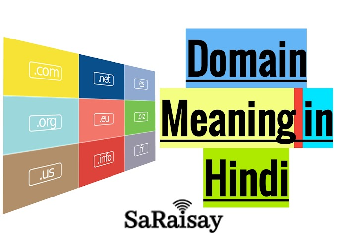 Domain Meaning in Hindi।Domain क्या होता है?Meaning of Domain name in hindi।