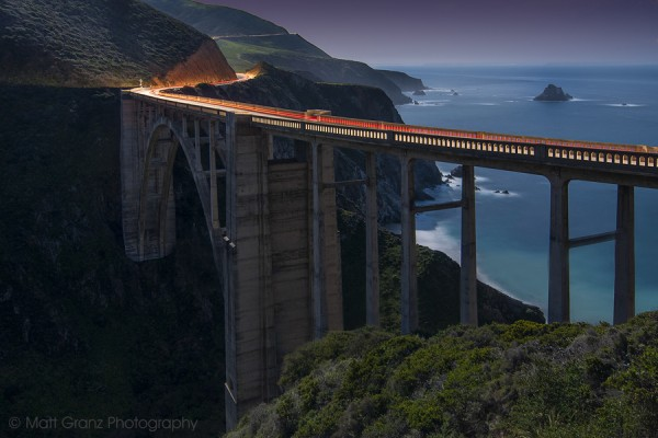 The Bixby Bridge by Moonlight