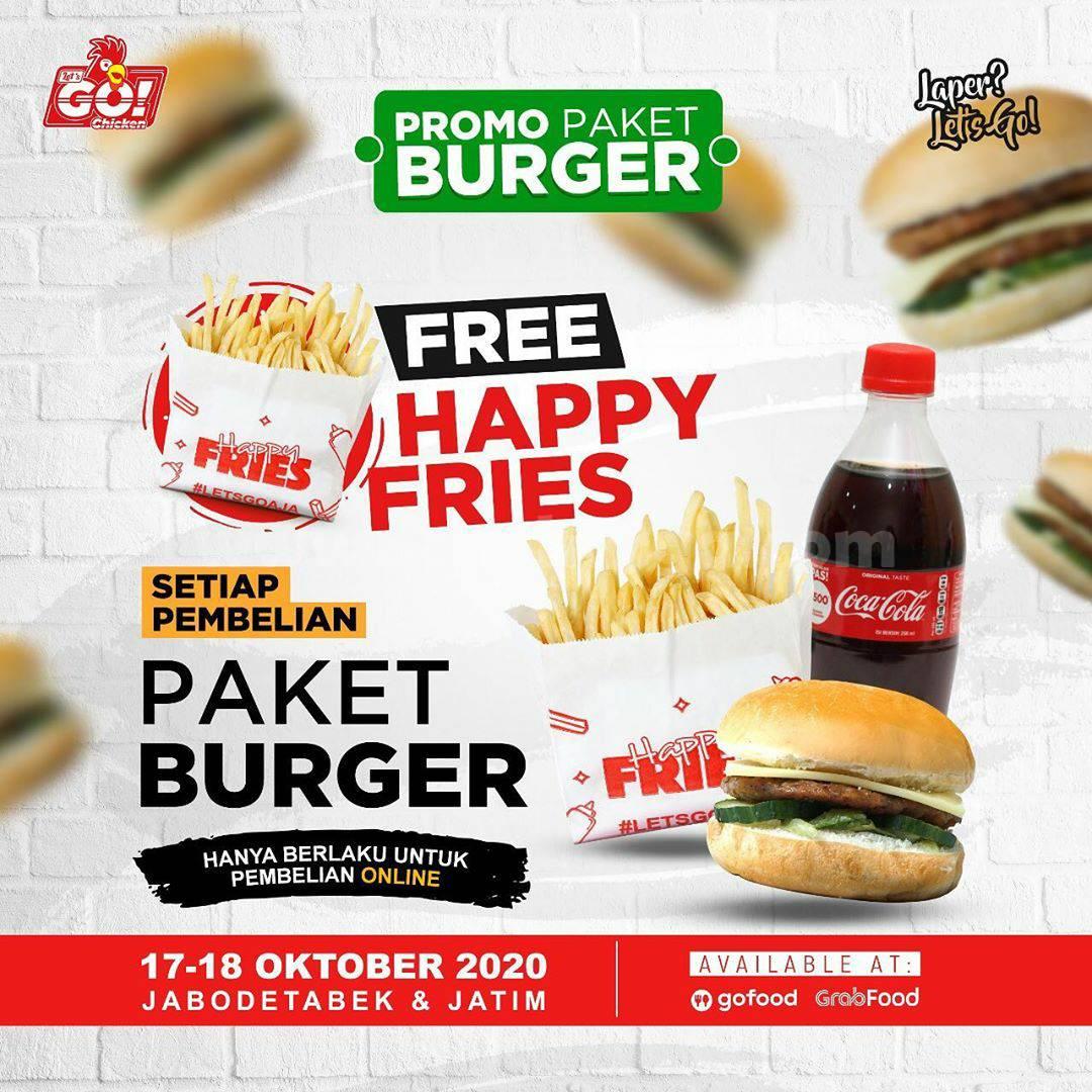 Let's Go Chicken Promo Paket Burger Khusus Pembelian via Gofood dan Grabfood