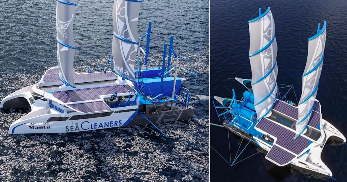 An Amazing New Sailing Vessel Is Designed To Feed On Plastic Waste While Cleaning The Oceans