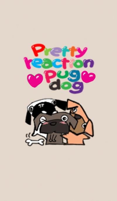 Pretty reaction Pug dog