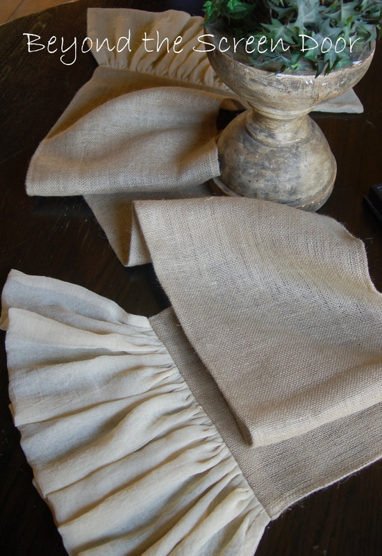 I Sew For You: Burlap Table Runners--What's Your Style?