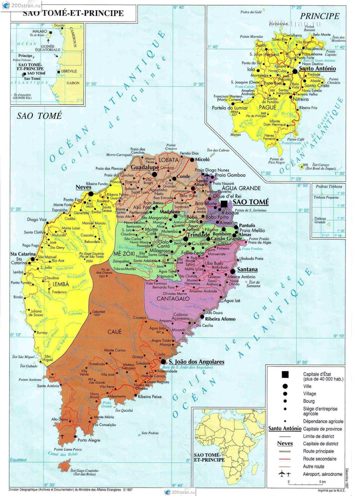 São Tomé e Príncipe | Mapas Geográficos de São Tomé e Príncipe