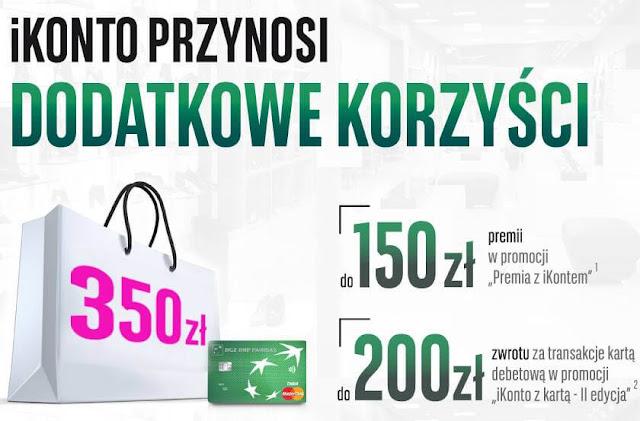 Nawet 350 zł za założenie iKonta BGŻ BNP Paribas na Groupon