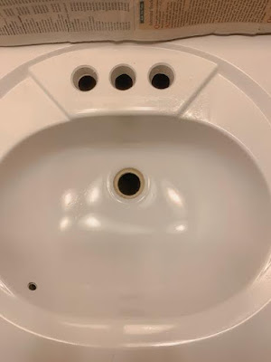 spray painted sink