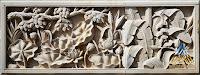 Relief batu alam paras jogja gambar pemandangan