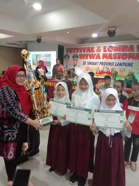 Kado Manis, Lambar Sabet Juara Umum FLS2N Ringkat Provinsi Lampung