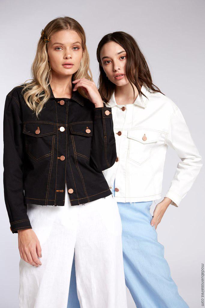 Camperas de jeans primavera verano 2020.