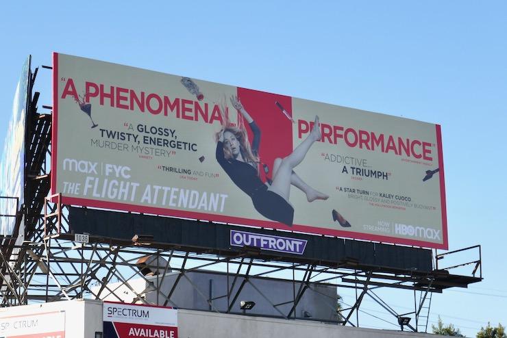 Flight Attendant season 1 FYC billboard