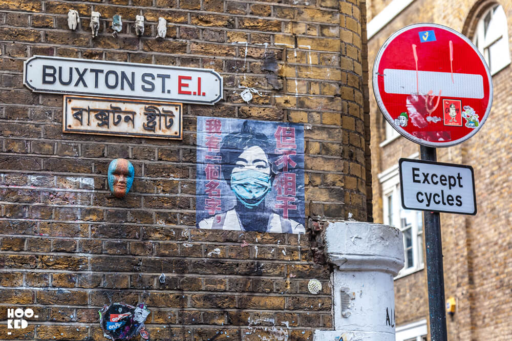 American Street Artist Eddie Colla in London