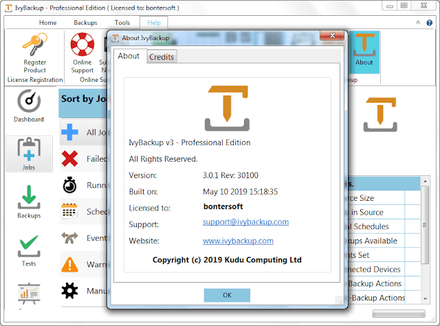 Screenshot IvyBackup 3.0.1 Rev 30100 Full Version