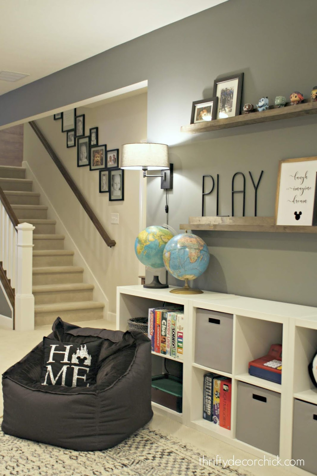 Decorating with vintage globes kid spaces