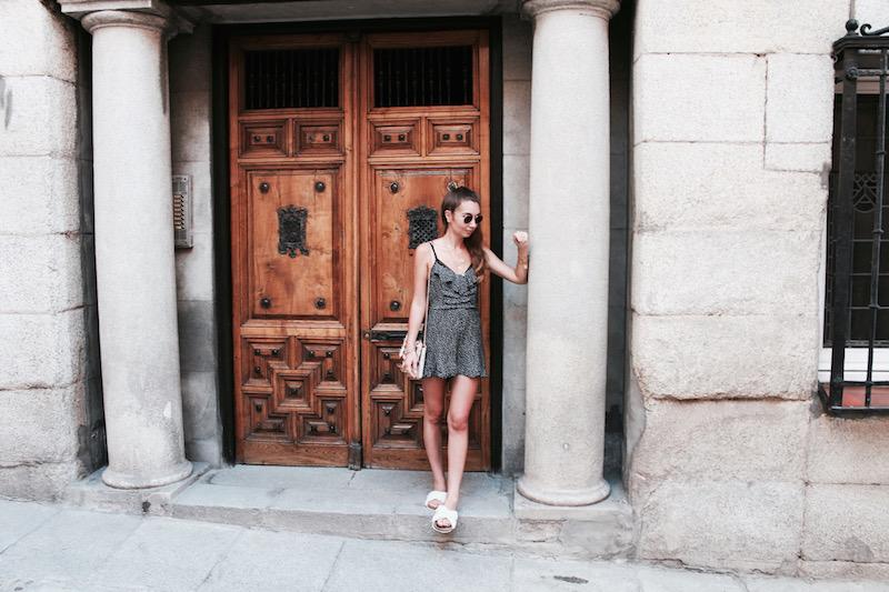 combishort à pois blogueuse mode 2017
