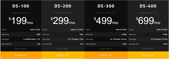 Enterprise Sever, Eleven2 Hosting, Pricing