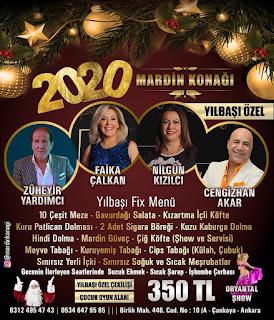 Mardin Konağı Ankara Yılbaşı Programı 2020 Menüsü