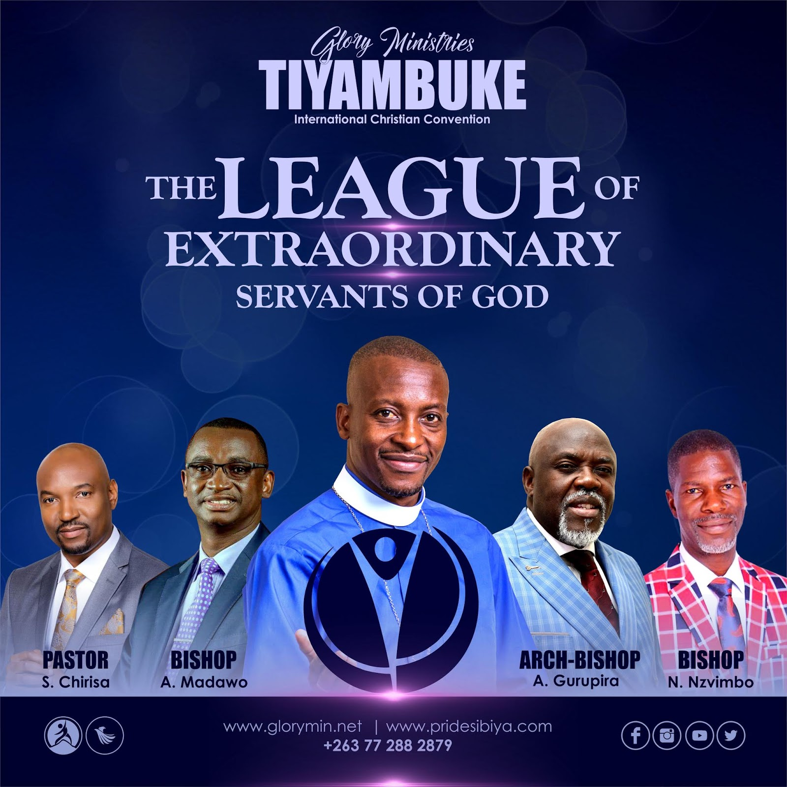 Bishop, Apostle Pride Sibiya - The League Of Extra-Ordinary Servants Of God #Tiyambuke2019