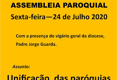 Assembleia Paroquial - 24 de Julho
