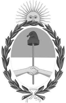 Dibujo del escudo nacional de Argentina en grises