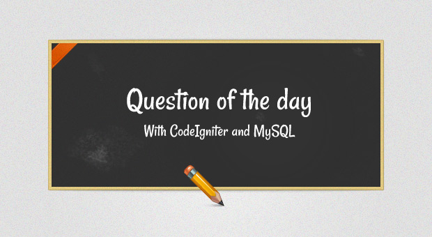 Free Tutorial - Question of the Day with CodeIgniter and MySQL