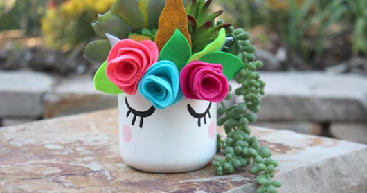 Make an Kawaii Unicorn Mason Jar Succulent Planter