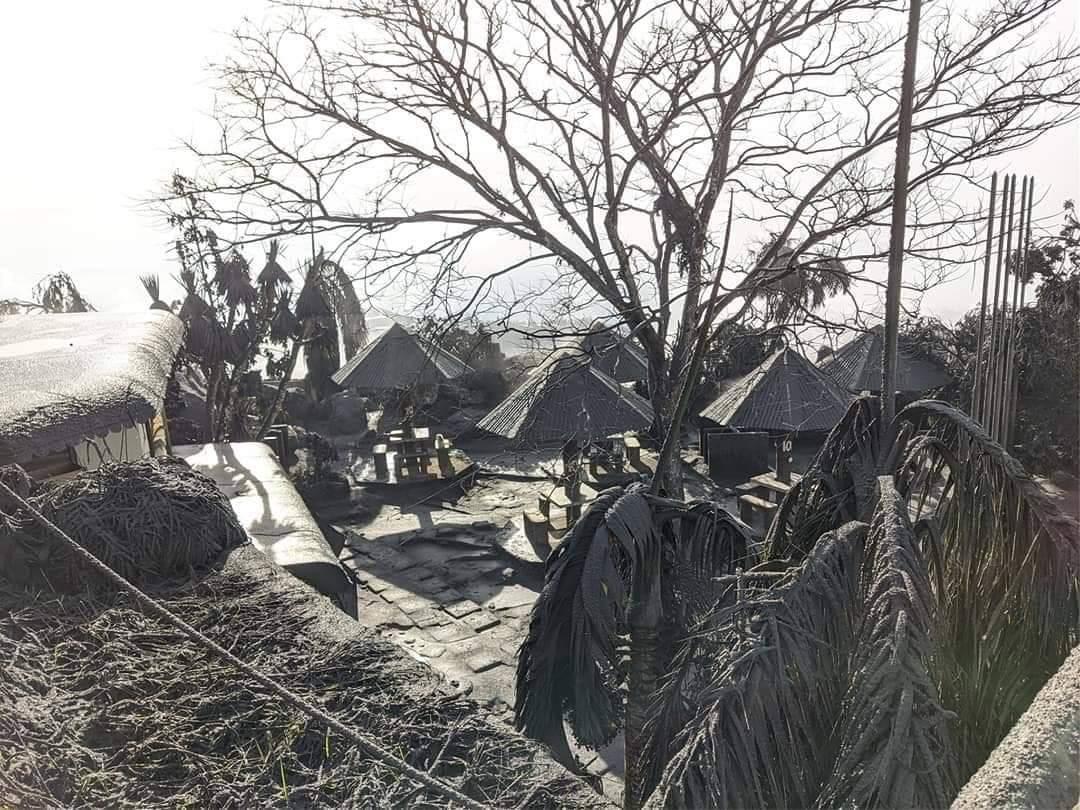 Tagaytay Picnic Grove covered by ashfall
