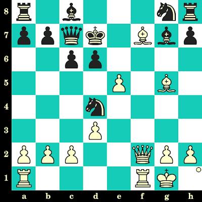 Les Blancs jouent et matent en 2 coups - Aaron Nimzowitsch vs Gustav Neumann, Riga, 1899