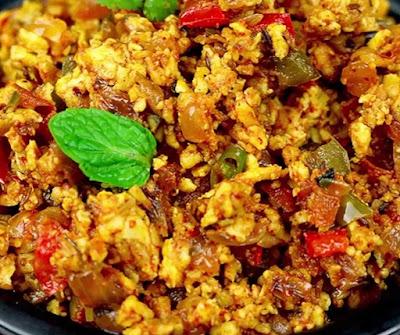 How to make paneer bhurji at home