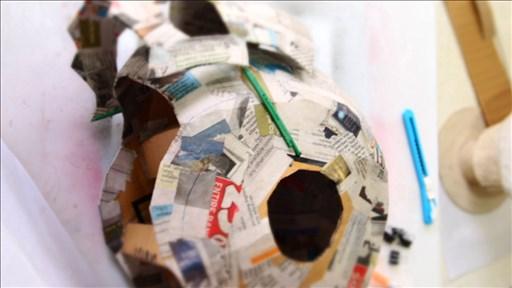 Dali Lomo Antman Costume Helmet Diy Cardboard Free