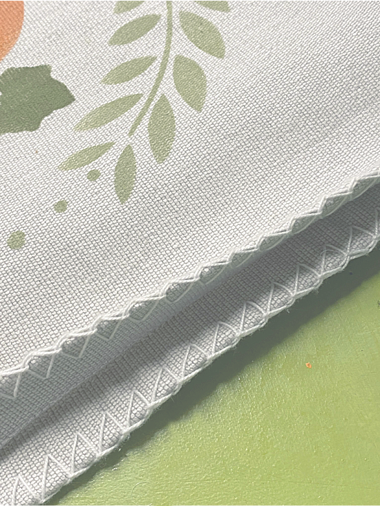 Using fabric hot glue to glue the seams