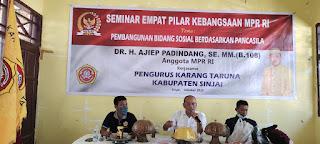 Anggota MPR RI Gelar Seminar Bekerja Sama Karang Taruna Kabupaten Sinjai