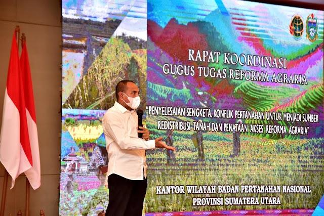 Gubernur Berharap Kasus Sengketa Tanah di Sumut Segera Selesai