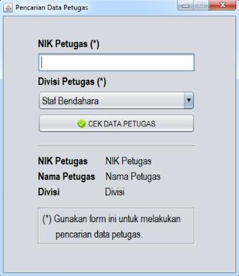 Form Cek Data Petugas (Untuk Nasabah)