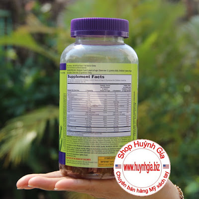Kẹo dẻo bổ sung Vitamin cho trẻ em Kirkland Children's Multivitamin Hàng Mỹ xách tay www.huynhgia.biz