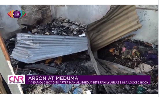 11-year-old boy burnt to death as his stepfather sets house ablaze (photos)