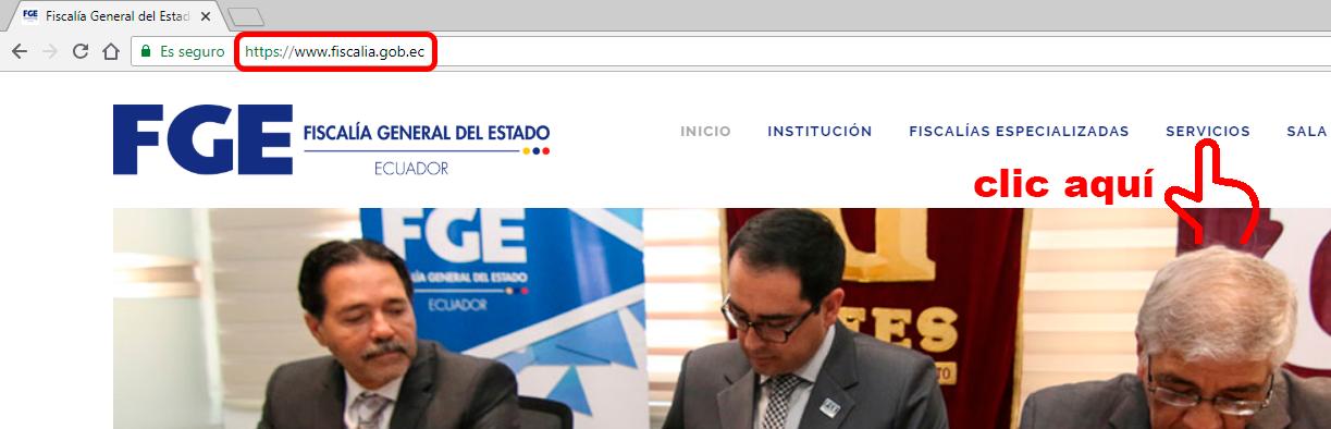 pagina de la fiscalia general