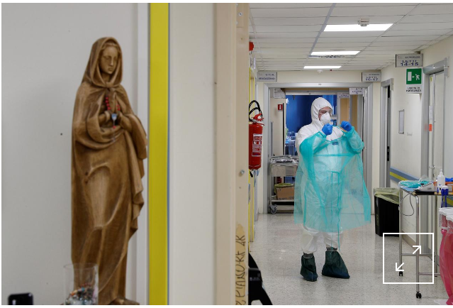 #CORONAVIRUS: Italy sees 812 more coronavirus deaths, but new cases fall steeply