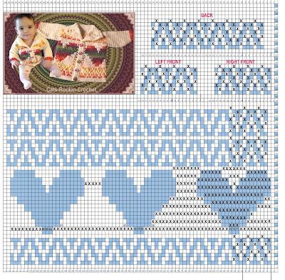 mosaic crochet cardigan