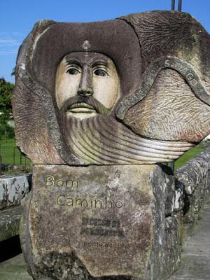 monumento de pedra sobre Santiago de Compostela