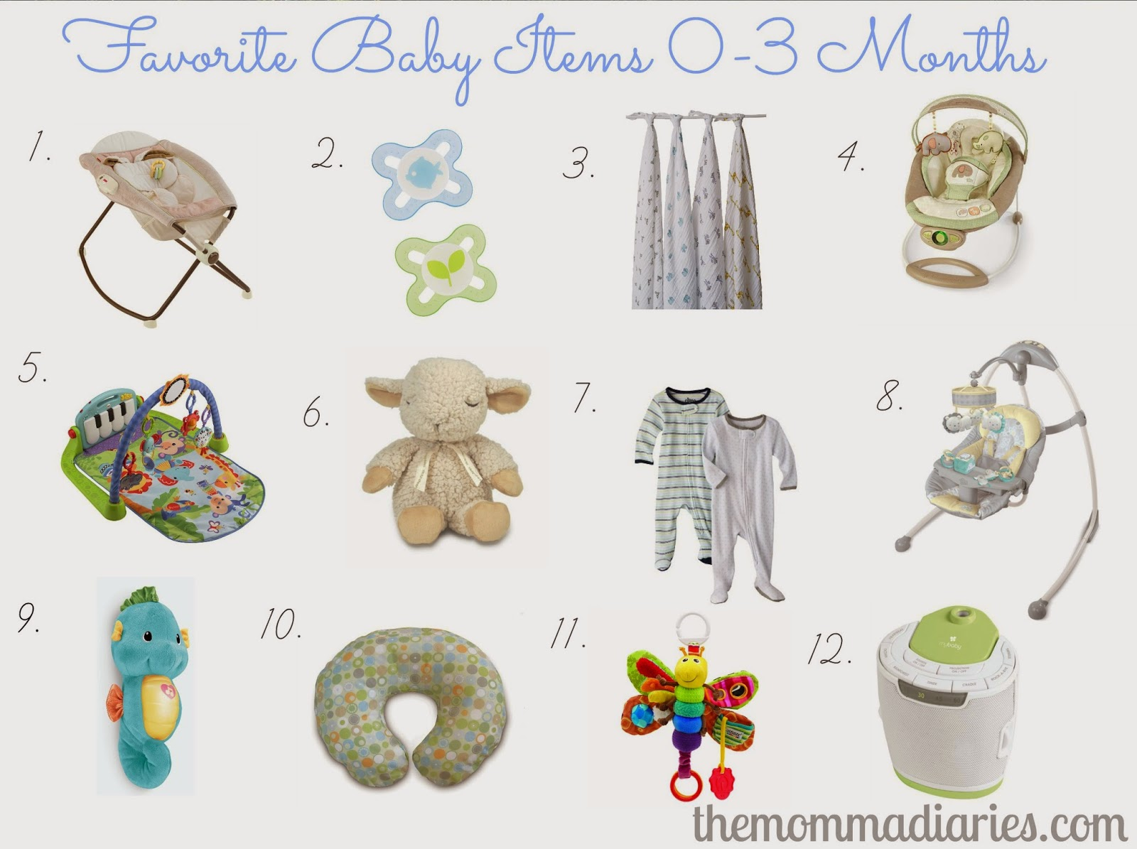 4eef360db Favorite Baby Items 0-3 Months - The Momma Diaries