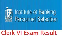 IBPS Clerk VI final result and cut-off marks