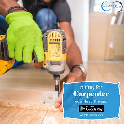 Hiring for Carpenter