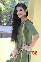 Akshitha cute beauty in Green Salwar at Satya Gang Movie Audio Success meet ~  Exclusive Galleries 018.jpg