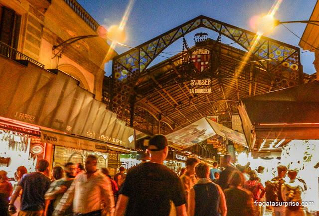 Entrada do Mercado da Boqueria, Barcelona