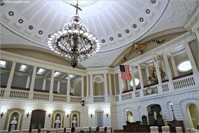 Cámara del Senado Bajo la Cúpula del Massachusetts State House