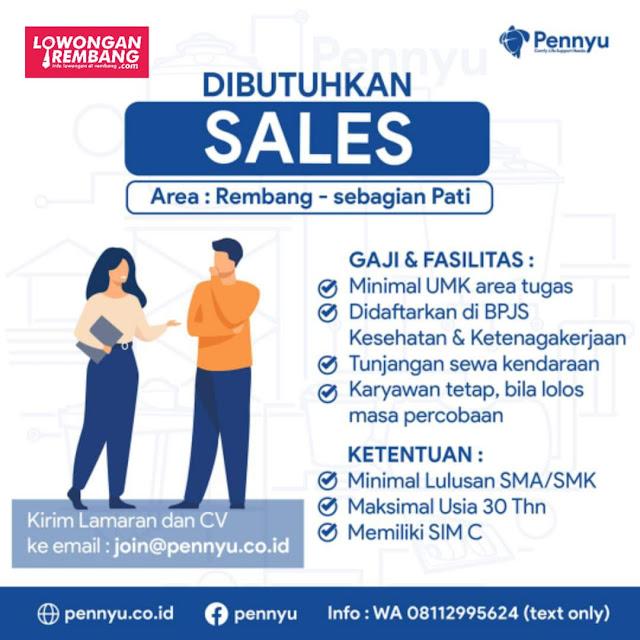 Lowongan Kerja Sales Tangki Air Pennyu Area Rembang-Pati