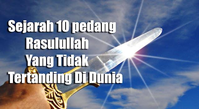 sejarah pedang rasulullah