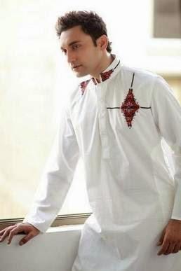Model baju muslim pria elegan warna putih