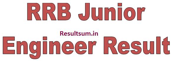 RRB Junior Engineer Result 2015